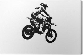 Leinwandbild Motocross-Jumper