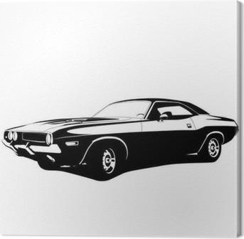 Leinwandbild Muscle-Car-Profil