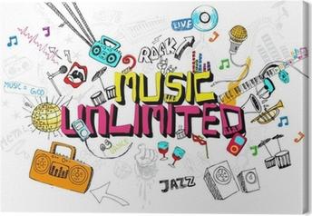 Leinwandbild Music Unlimited