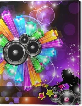 Leinwandbild Musik-Disco-Flugblatt für Dancing Veranstaltungen