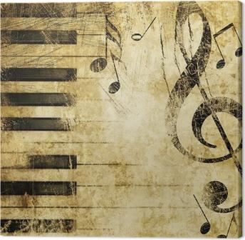 Leinwandbild Musik Grunge