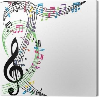 Leinwandbild Musik Noten Hintergrund, stilvolle musikalische Thema
