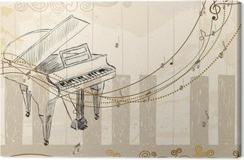 Leinwandbild Musikalischer Hintergrund