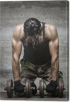 Leinwandbild Muskel müde Sportler