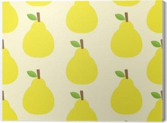 Leinwandbild Muster Vektor Hintergrund Nette Fruchtfarbe köstlich Round- Schauen