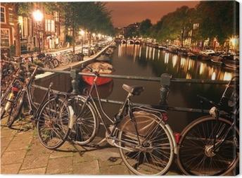 Leinwandbild Nacht Amsterdam