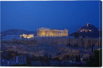 Leinwandbild Nachtansicht der Akropolis, Athen, Griechenland