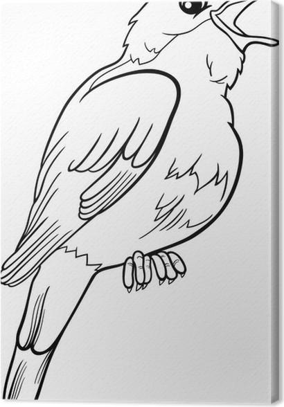 Leinwandbild Nachtigall Vogel Malvorlagen • Pixers® - Wir leben, um ...