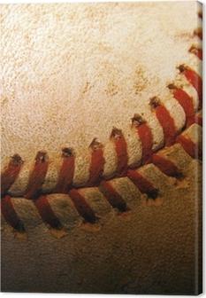 Leinwandbild Nahaufnahme von einem alten, gebrauchten Baseball