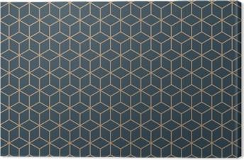Leinwandbild Nahtlose Bräune blau und braun isometrische Würfel Muster Vektor