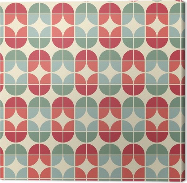Leinwandbild Nahtlose Geometrische Fliesen Muster Im VintageStil - Fliesen vintage stil