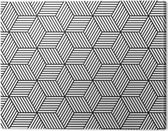 Leinwandbild Nahtlose geometrische Muster mit Würfeln.