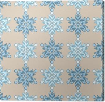 Leinwandbild Nahtlose Hintergrund mit Schneeflocken. Drucken. Hintergrund wiederholen. Stoff-Design, Tapete.