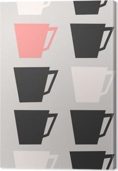 Leinwandbild Nahtlose Kaffeetassen Muster