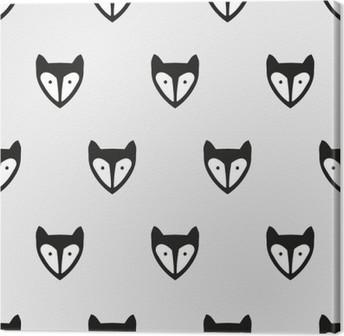 Leinwandbild Nahtlose Muster Fuchs