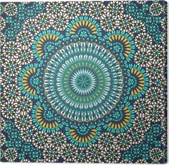 Leinwandbild Nahtlose Muster in Mosaik-Ethno-Stil.
