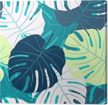 Leinwandbild Nahtlose Muster mit Palmblättern