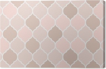 Leinwandbild Nahtlose Muster rosa Fliesen, Vektor