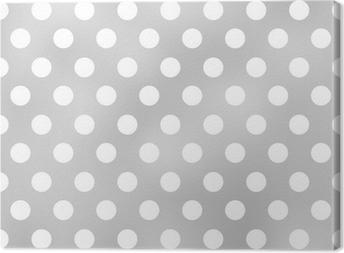 Leinwandbild Nahtlose Polka Dots grauen Muster