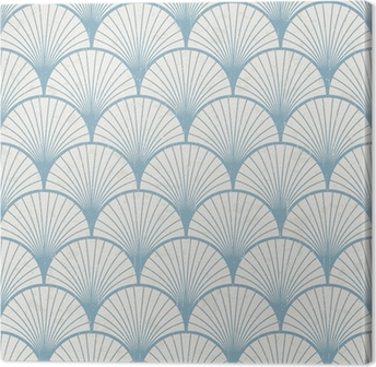 Leinwandbild Nahtlose Retro japanische Muster Textur