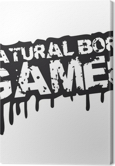 Leinwandbild Natural Born Gamer Stempel Graffiti