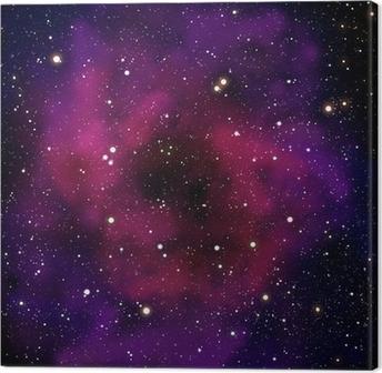 Leinwandbild Nebel und Stern im Raumbereich