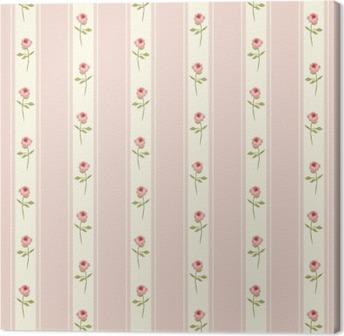 Leinwandbild Nette Nahtlose Shabby Chic Muster Mit Rosen Und Tupfen Ideal  Für Küche Textilien Oder Bettwäsche