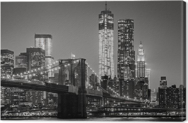 Leinwandbild New York bei Nacht • Pixers® - Wir leben, um zu verändern