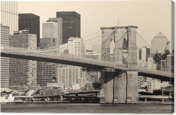 leinwandbild new york city brooklyn bridge pixers wir leben um zu ver ndern. Black Bedroom Furniture Sets. Home Design Ideas