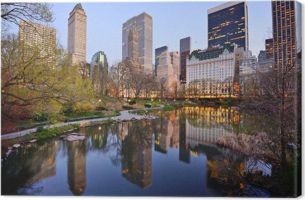Leinwandbild New York City Central Park Lake • Pixers® - Wir leben ...