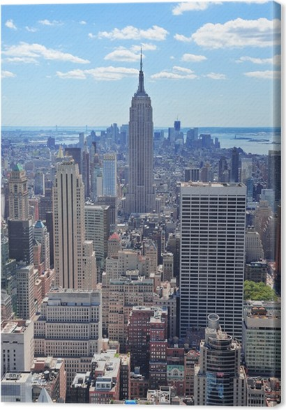 Leinwandbild New York City Empire State Building • Pixers® - Wir ...