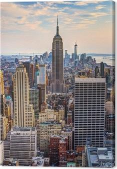 Leinwandbild New York City in der Abenddämmerung