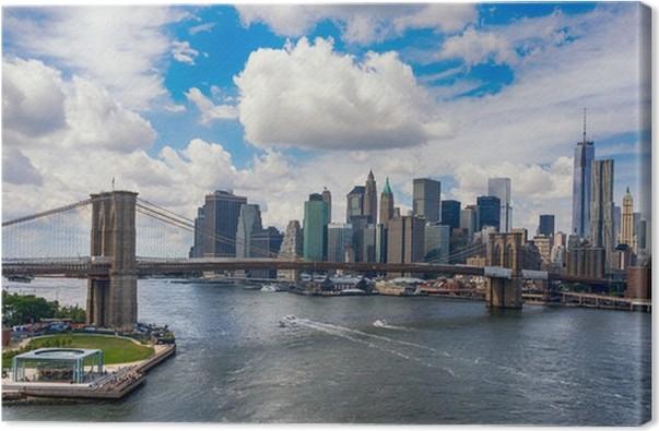 leinwandbild new york city in der glut des. Black Bedroom Furniture Sets. Home Design Ideas