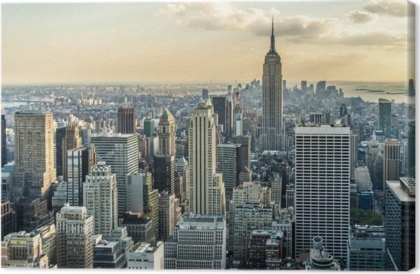 leinwandbild new york city luftbild pixers wir leben. Black Bedroom Furniture Sets. Home Design Ideas