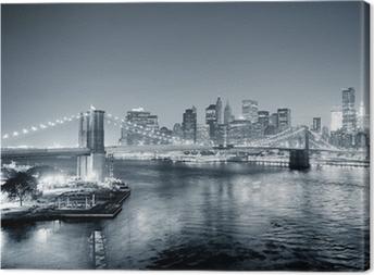 Leinwandbild New York City Manhattan Innenstadt schwarz und weiß
