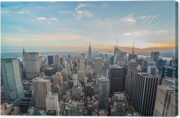 Leinwandbild New York City Manhattan Wolkenkratzer Gebäude • Pixers ...