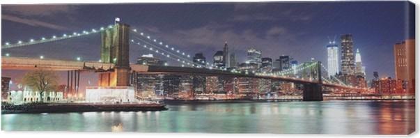 Leinwandbild New York City Panorama • Pixers® - Wir leben, um zu ...