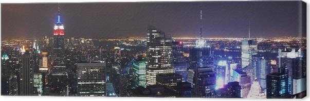 Leinwandbild New York City Skyline von Manhattan Panorama • Pixers ...