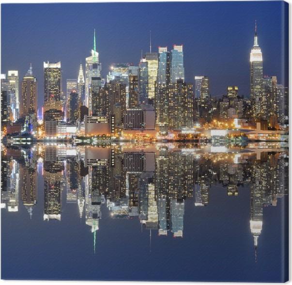 Leinwandbild New York City, skyline • Pixers® - Wir leben, um zu ...