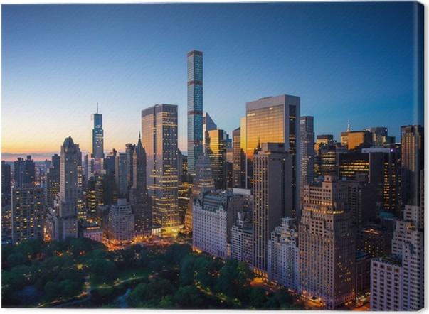 Leinwandbild New York City - Sonnenaufgang über Central Park und ...
