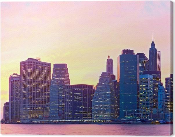 leinwandbild new york city usa bunte stadtbild von. Black Bedroom Furniture Sets. Home Design Ideas