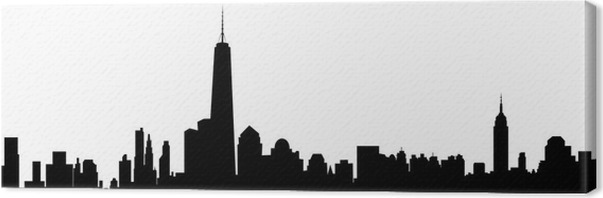 leinwandbild new york skyline vector pixers wir leben um zu ver ndern. Black Bedroom Furniture Sets. Home Design Ideas