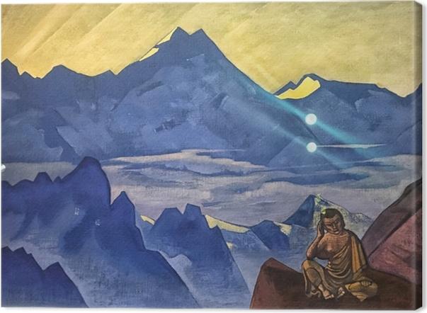 Leinwandbild Nicholas Roerich - Buddha der Sieger - Nicholas Roerich