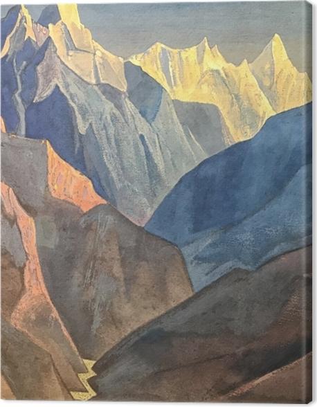 Leinwandbild Nicholas Roerich - Studium der Berge I - Nicholas Roerich