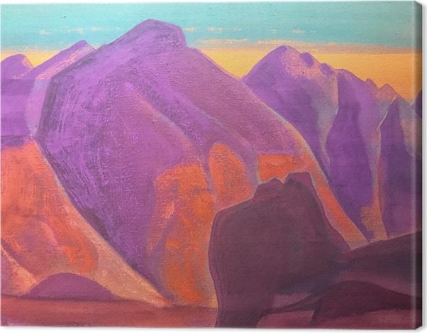 Leinwandbild Nicholas Roerich - Studium der Berge II - Nicholas Roerich