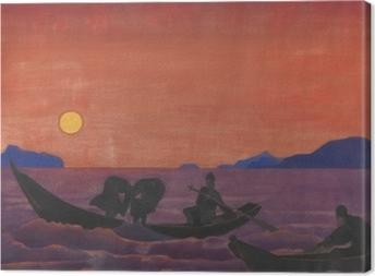 Leinwandbild Nicholas Roerich - Und wir fischen weiter