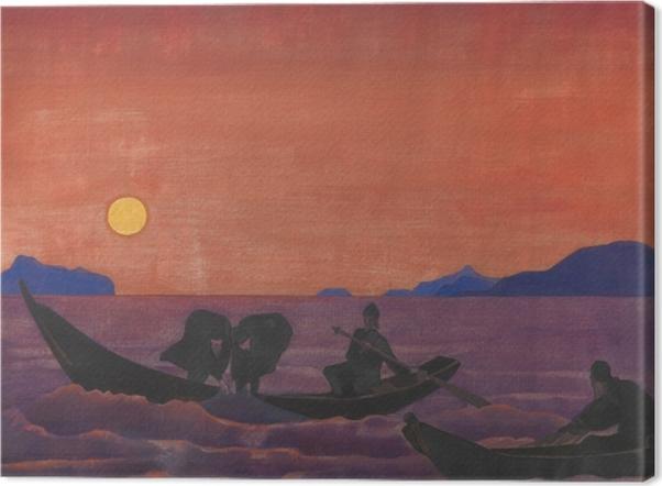 Leinwandbild Nicholas Roerich - Und wir fischen weiter - Nicholas Roerich