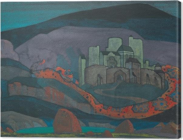 Leinwandbild Nicholas Roerich - Verurteilte Stadt - Nicholas Roerich