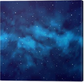 Leinwandbild Night Sky with Stars