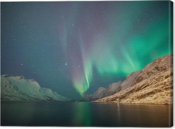 Leinwandbild Nordlichter, Ersfjordbotn, Tromsø, Norwegen